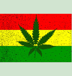 Rastafarian flag vector