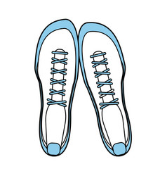 sneakers topview fitness related icon image vector image vector image