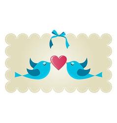Twitter love couple birds vector image vector image