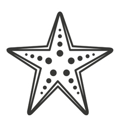 Starfish sea cute icon vector