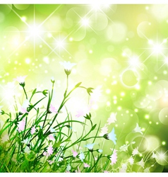 Magic flower meadow vector