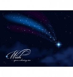 wish upon a shooting star vector image