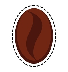Isolated coffee bean design vector