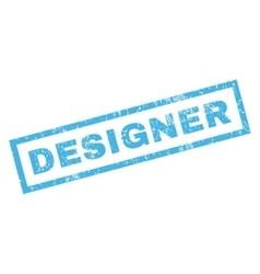 Designer rubber stamp vector