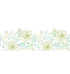 Mysterious green garden horizontal seamless vector
