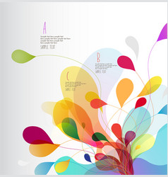Abstract colored background with leafs vector