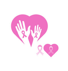 breast cancer awareness ribbon icon symbol vector image