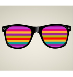 sunglasses abstract background vector image