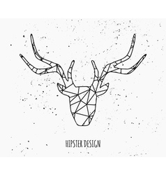 stylized deer head abstract geometric design vector image