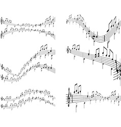 Music backgrounds vector image