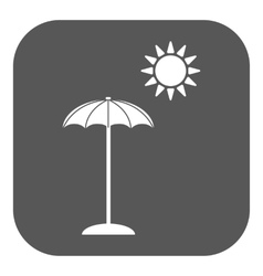 The parasol icon vacation symbol flat vector