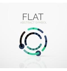 Logo - abstract minimalistic linear flat design vector
