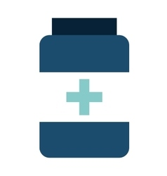 Drugs bottle isolated icon design vector