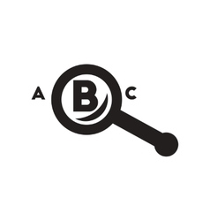 Flat icon in black and white style magnifying vector