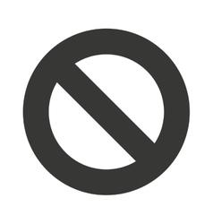 Denied symbol circle icon vector