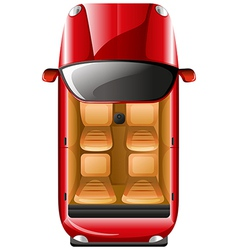 A topview of a red car vector