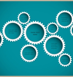 Abstract gear wheels vector image