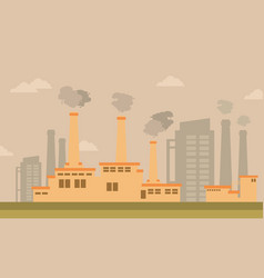 Bad environment with industry art vector
