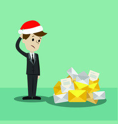 Businessman or manager in new christmas finding vector
