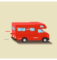 Caravan travel car vehicle trailer house family vector
