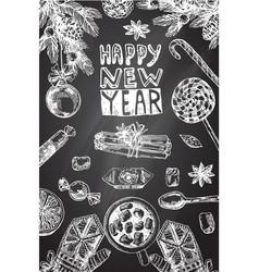 christmas food vector image