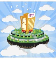 Cloud city vector image