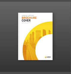 Company brochure cover design layout vector