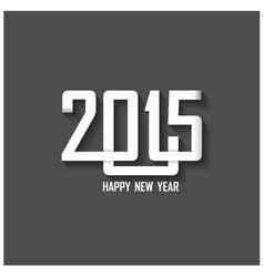 Creative happy new year 2015 text design vector image vector image