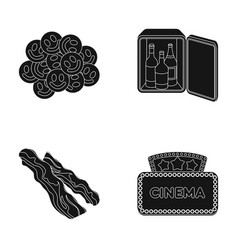 Drug mini-bar and other web icon in black style vector