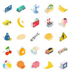 emirates icons set isometric style vector image vector image