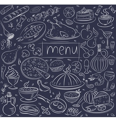 food sketch vector image
