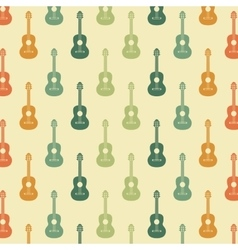 Guitar background retro and music design vector