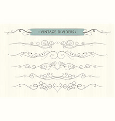hand drawn flourishes text divider graphic vector image vector image
