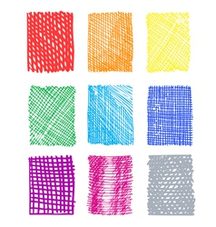 hand-drawn rectangled patterns vector image vector image