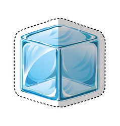 Ice cube isolated icon vector
