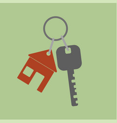 Icon key icon from the house flat design style vector