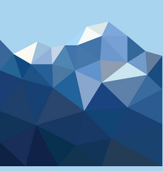 low poygonal mountain in triangle style vector image
