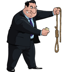 Man with noose vector image vector image