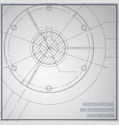 Mechanical engineering drawings engineering gray vector