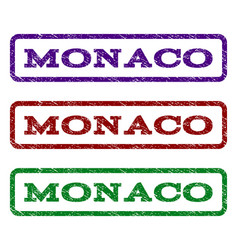 Monaco watermark stamp vector