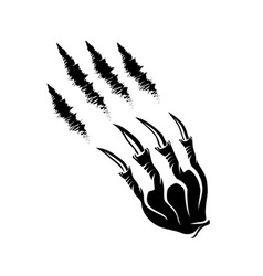 Monster claws and claws marks vector