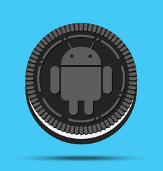 New mobile operating system android oreo vector