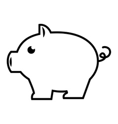 piggy pig bank vector image
