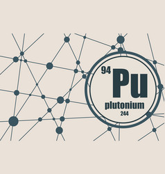 plutonium chemical element vector image
