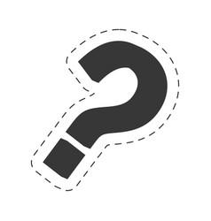 question mark image black vector image vector image