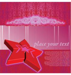red star background vector image vector image