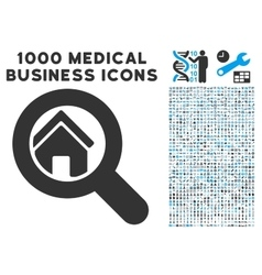 Search House Icon with 1000 Medical Business vector image vector image