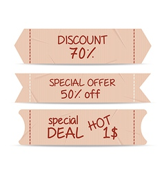 Set of bookmarks sticker tags retro vector