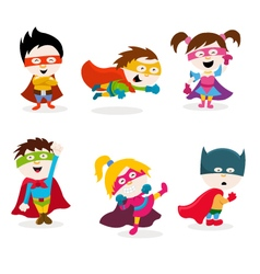 Super kids vector
