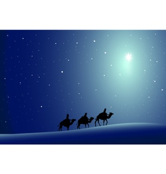 Three wise men and Star- vector image